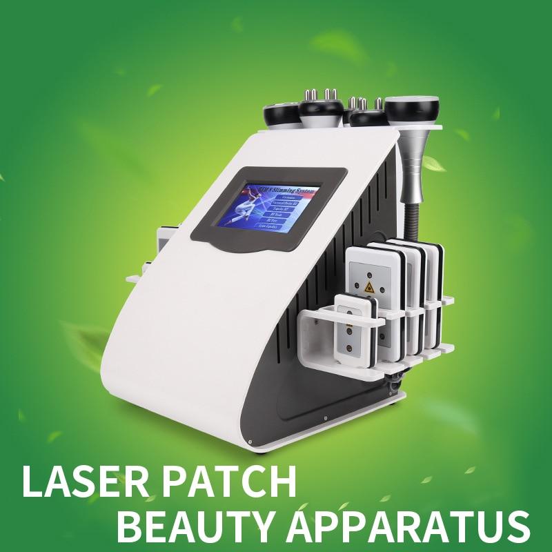 جهاز الليزر الطبيعي للتخسيس جهاز تنحيف الدهون جهاز حرق الدهون بقوة 40K جهاز 6 في 1 RF جهاز الجمال المنزلي