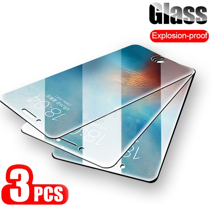 9H Anti-Burst Protective Glass On The For iPhone 7 5S 5 6 6s Tempered Screen Protector For iPhone Xs