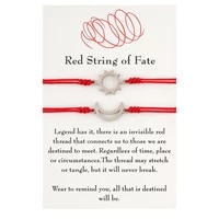 red string of fate bracelets handmade red rope long distance matching bracelet good luck protection couples bracelets