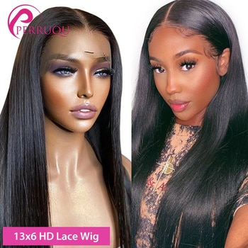Straight Lace Front Wig 13X6 HD Lace Front Human Hair Wigs For Women Perruqu Brazilian 4X4 5X5 6X6 Transparent Lace Closure Wig
