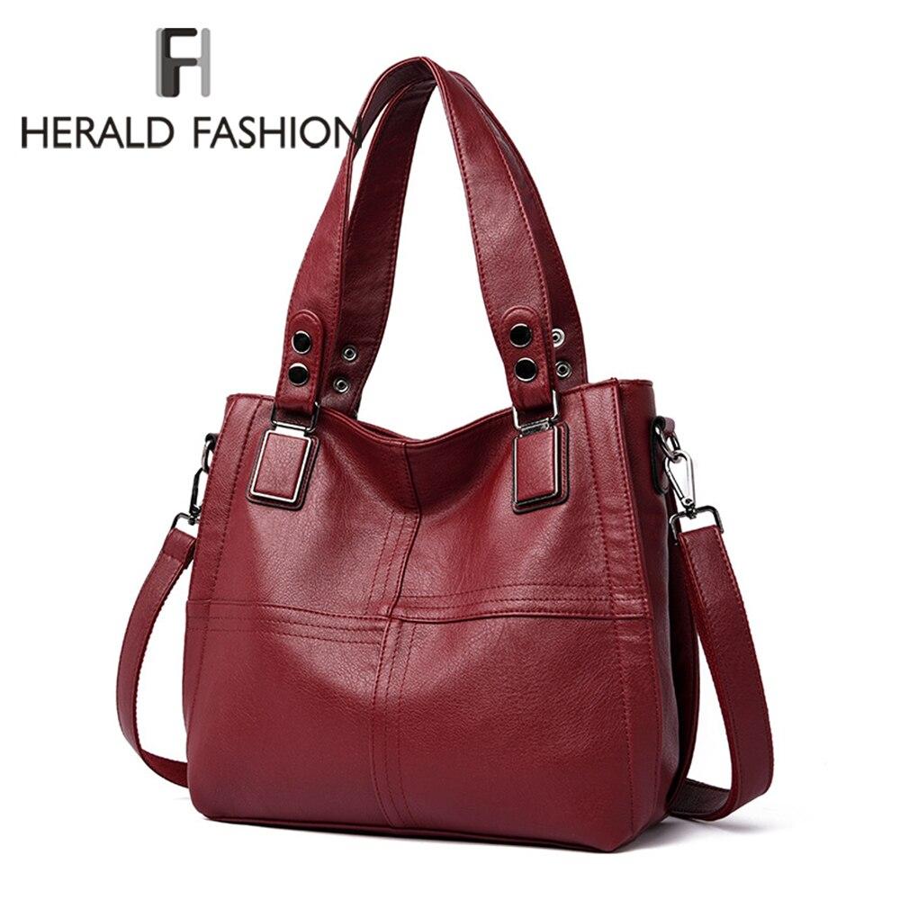 Large Capacity Women Shoulder Bags Designer Brand Handbags Luxury Pu Leather Crossbody Bag Casual Totes Simply Buckets Bag Purse