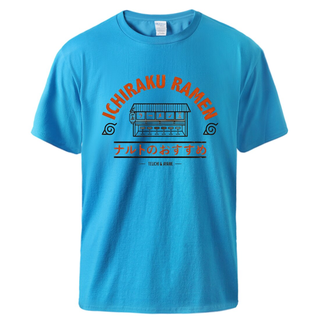 Naruto Ichiraku Ramen T shirts Sommer Mann Top Japan Anime Harajuku Kühlen Kurzarm Baumwolle t-shirts Sportswear Männlichen Schwarz T