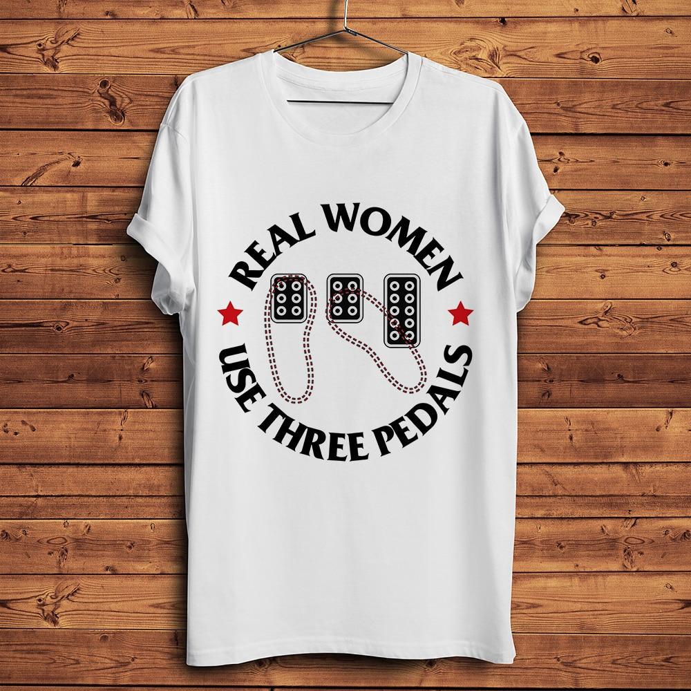Camiseta de transmisión Manual MT con tres pedales para mujeres reales, divertida camiseta para hombre, camiseta para hombre, camiseta fresca unisex, ropa de calle