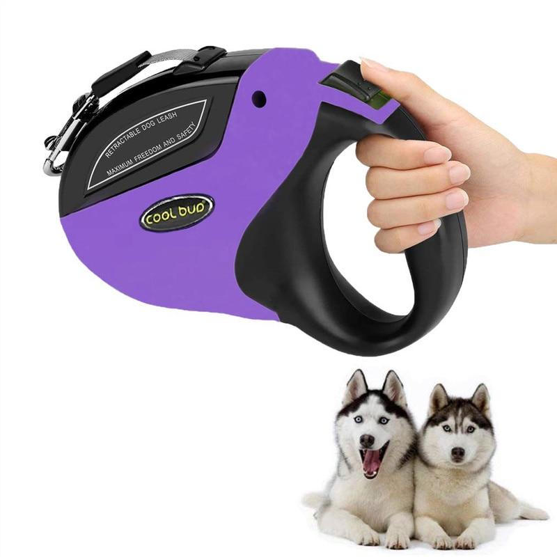 נסיג כלב מחמד אנטי סליפ הליכה ריצה אימון כלבים קטן בינוני גדול כלבים עד 110lbs רולטה לכלבים