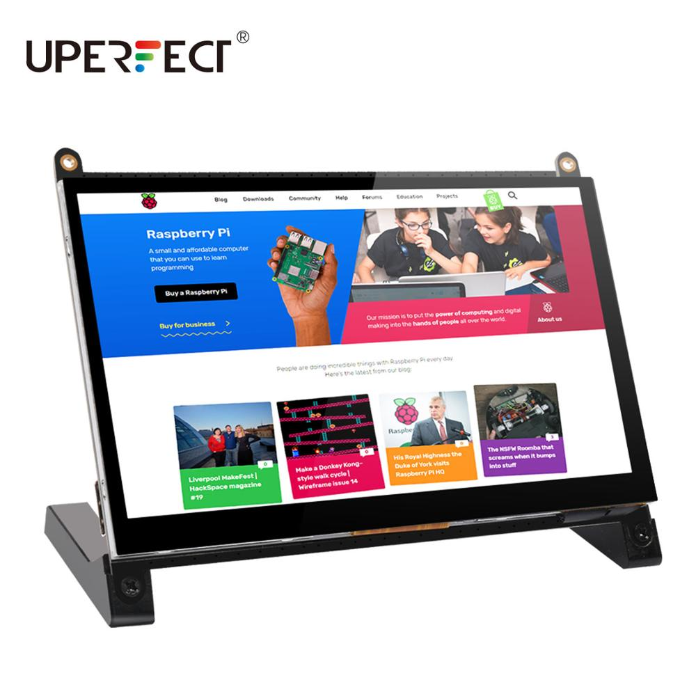 UPERFECT Portable Monitor Raspberry Pi touch screen 7-inch 1024X600 with dual speakers portable capa