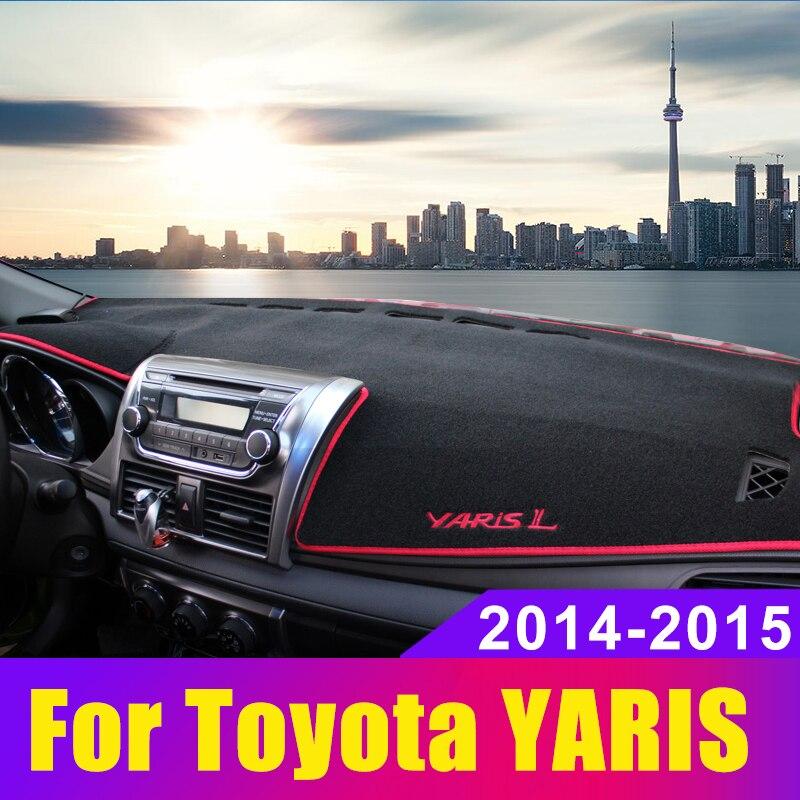 Car dashboard Avoid light pad Instrument platform desk cover Mats Carpets Anti-UV LHD For Toyota YARIS L 2014 2015 Accessories