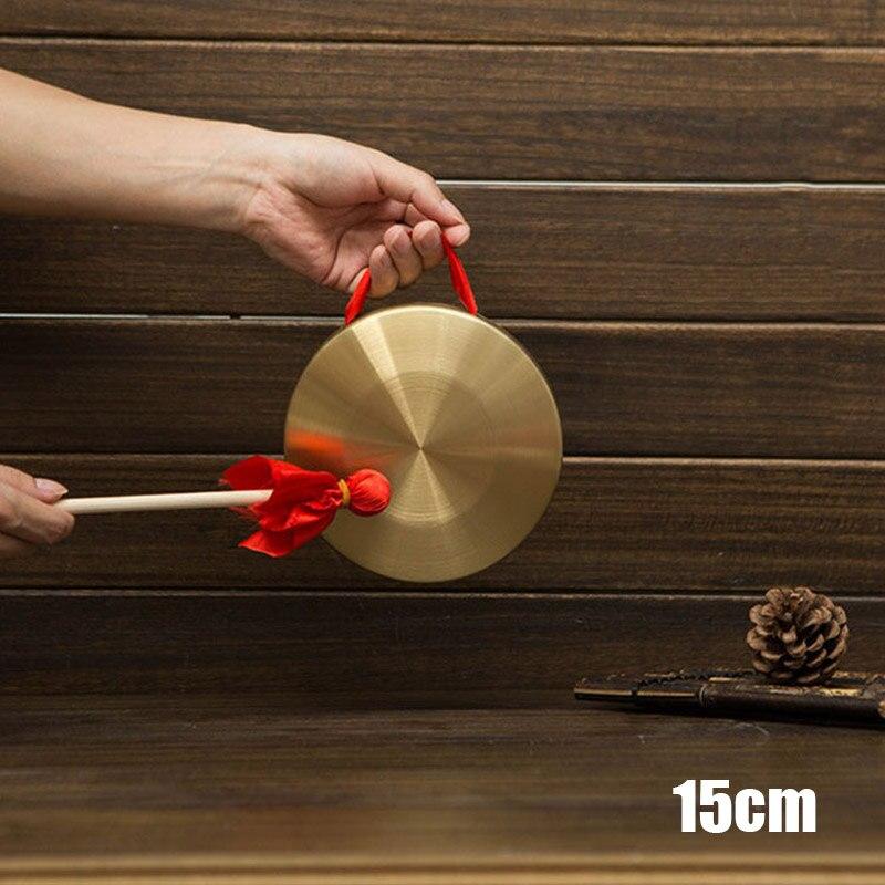 Gong de mano con palo de madera folclórico tradicional china instrumento Musical de juguete para niños EIG88