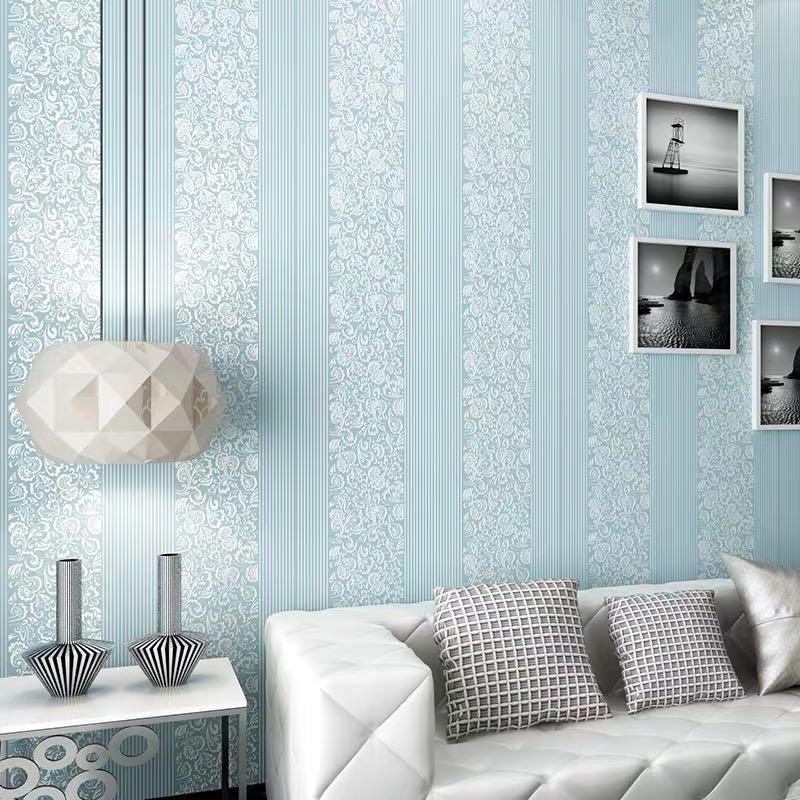 YOUKER moderno minimalista 3D tres dimensiones a rayas verticales tela no tejida dormitorio fondo de sala pared papel pintado