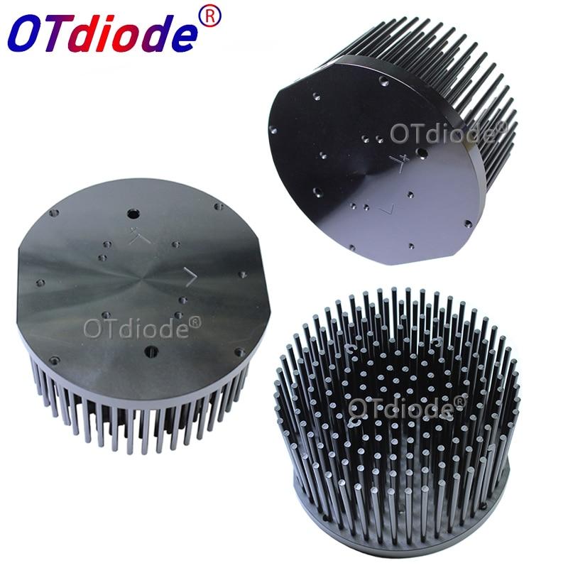 Round D133mm Pre-drilled led pin fin heatsink fit for Cob CREE cxb3590 Bridgelux V29 50-60w heat sink diy indoor