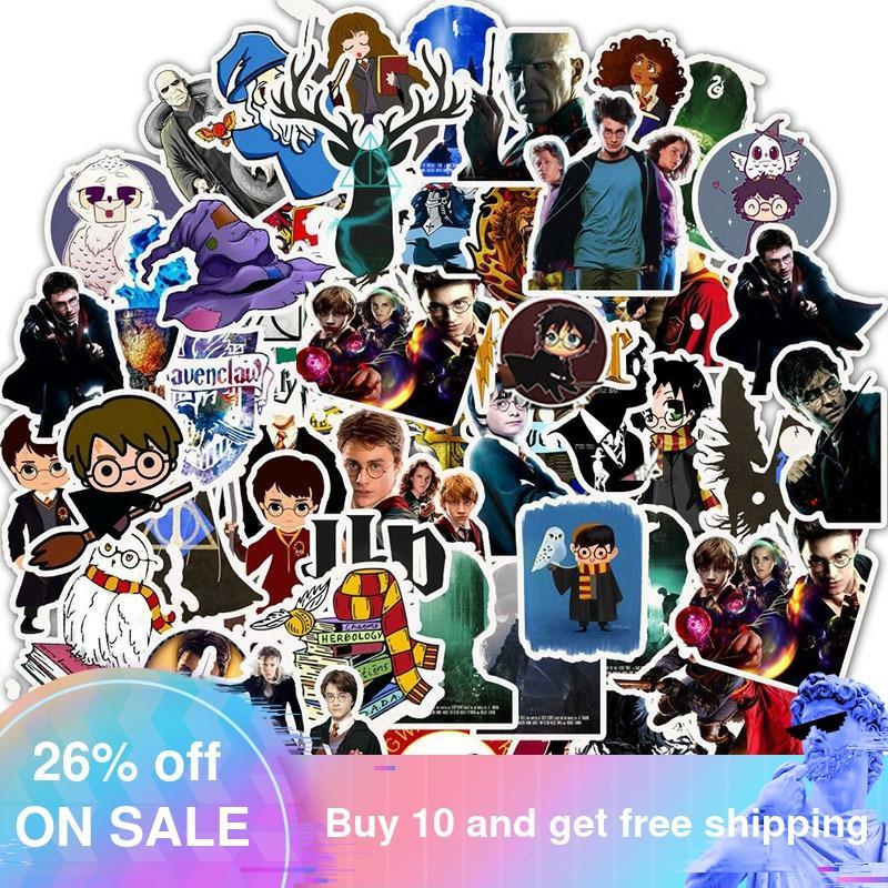 50 Uds nueva película Cool Harry Sticker divertido Anime impermeable para teléfono portátil Scrapbook Scooter juguetes para niños