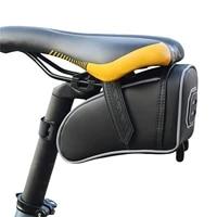 bicycle saddle bag rainproof bicycle bag shockproof saddle bag for refletive rear large capatity seatpost mtb bike bag tool