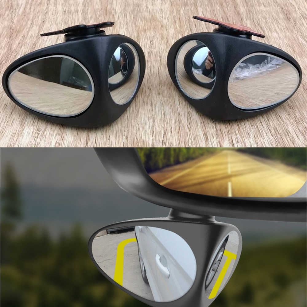 360 градусов HD Зеркало для слепых зон, регулируемое автомобильное выпуклое зеркало заднего вида для автомобиля, широкоугольное зеркало для п...