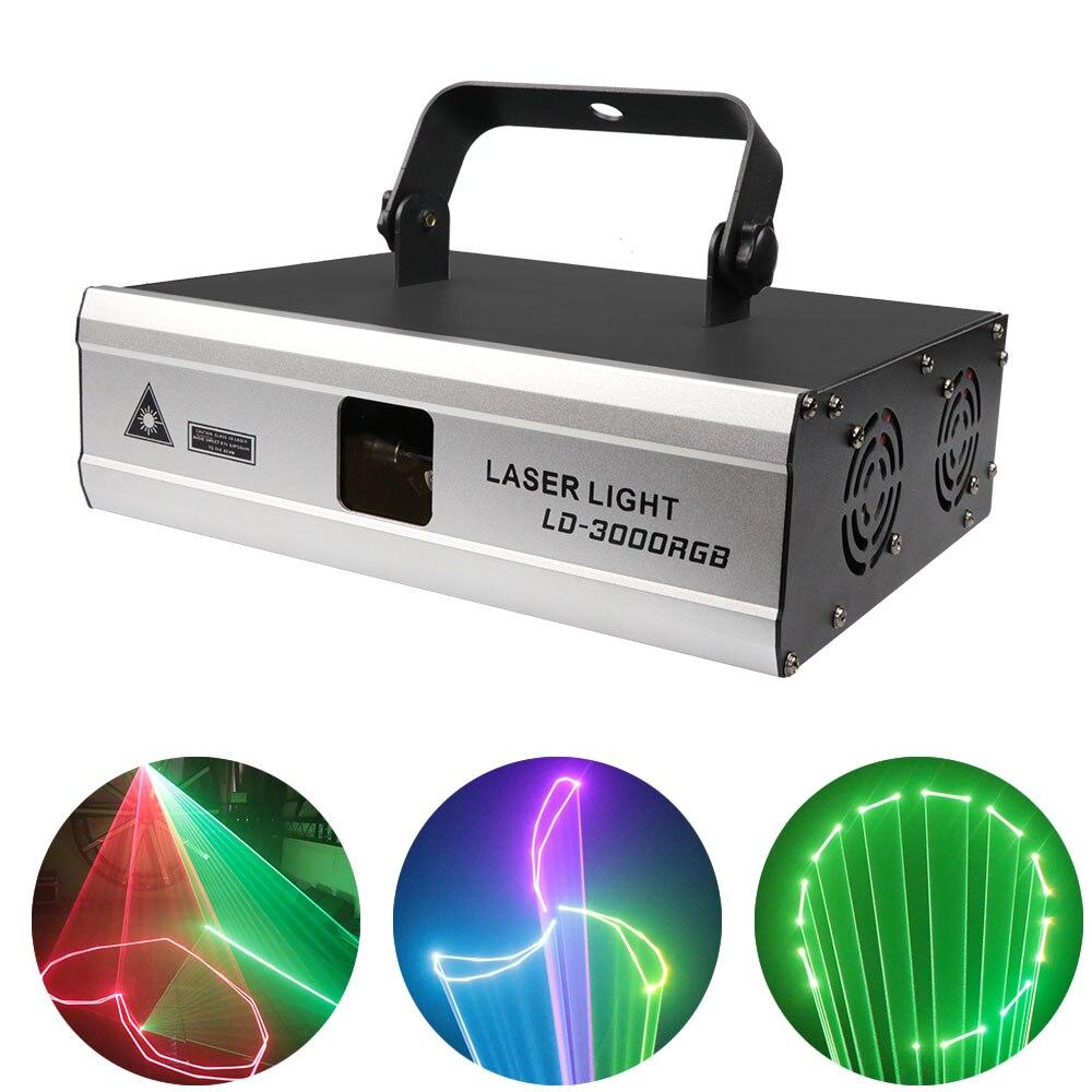 3W ILDA 3D RGB Laser Light Wedding DJ Disco Profession Beam DMX Lighting Club Party Pattern Animation Beam Laser scanning Light 20kpps laser scanning galvo scanner ilda closed loop max 30kpps for laser 3d printer