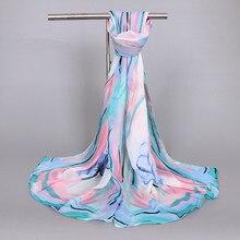 Femmes écharpe été soie foulards châles mode dame enveloppes doux pashimina femme Echarpe Gray22