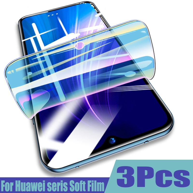 3-1 Uds película protectora 100D de hidrogel para Huawei P30 P20 lite P40 Lite Pro Mate 20 lite 20pro Honor 20 Protector de pantalla no de vidrio