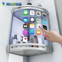 MUSAMBAN     etagere de salle de bain  organisateur de serviettes  porte-shampoing mural  accessoires de salle de bain