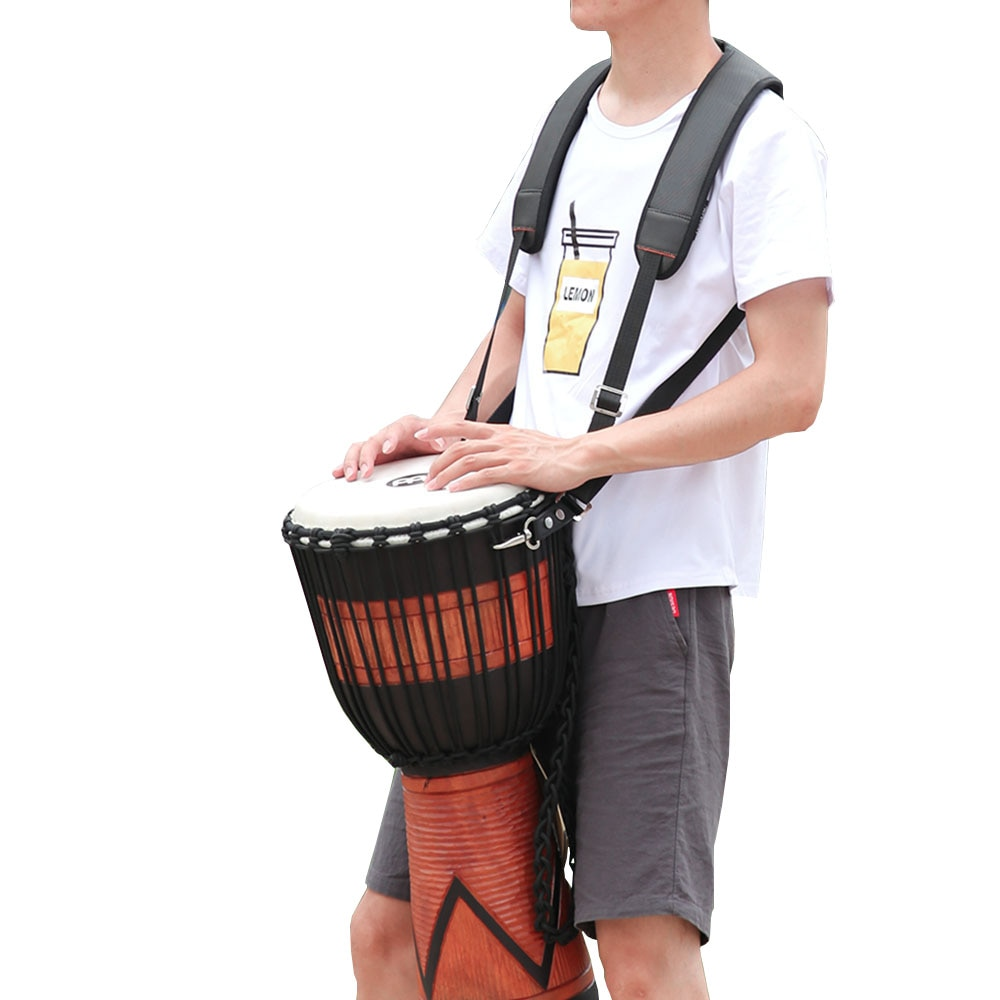 Percussion Djembe Strap with Quick Change Hook-Heavy Duty Nylon Adjustable Shoulder Padding Hand Drum Belt Accessories enlarge