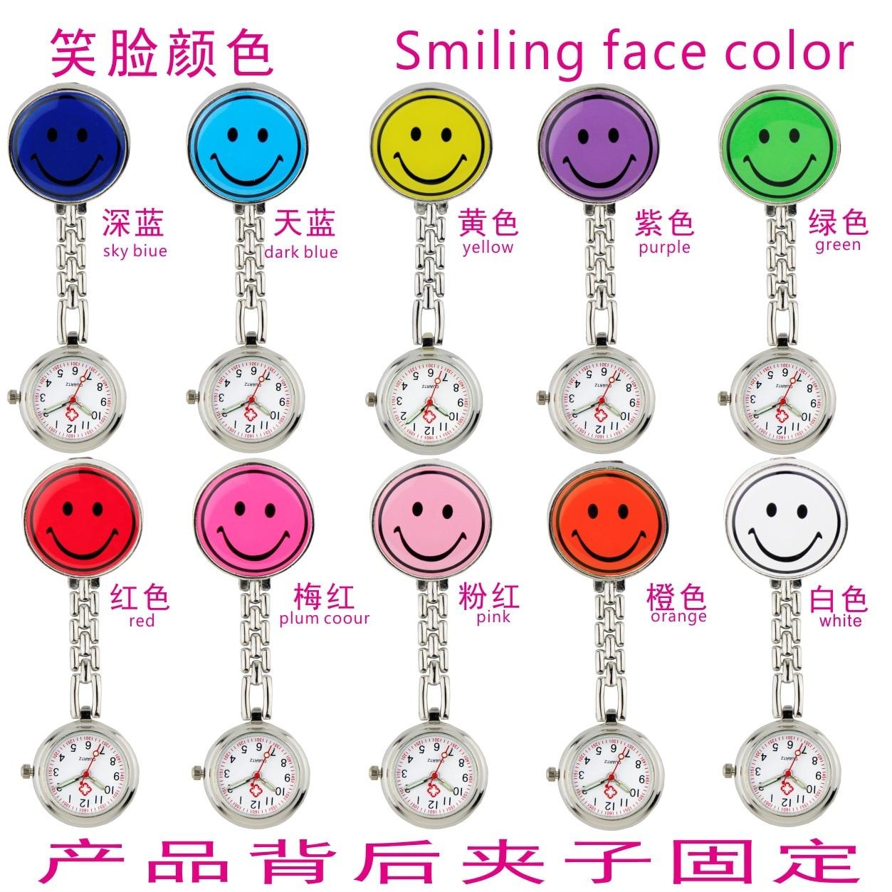2021 New Fashion Ladies Cute Love Smiling Face Quartz Bracelet Brooch Nurse Pocket FOB Watch Luminous Pointer Ladies Girls Gift enlarge