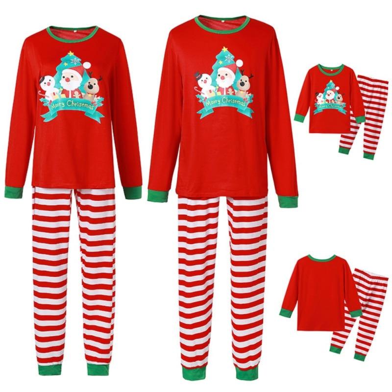 ملابس الأسرة المتطابقة ملابس مخطط عيد الميلاد منامة الأم ابنة الأب الابن والطفل بيجامة الأم الأب وأنا ملابس خاصة