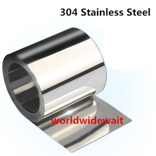 Тонкая пластина из фольги из нержавеющей стали S304, 0,3-1 мм x 100 мм x 1000 мм, 1 шт.