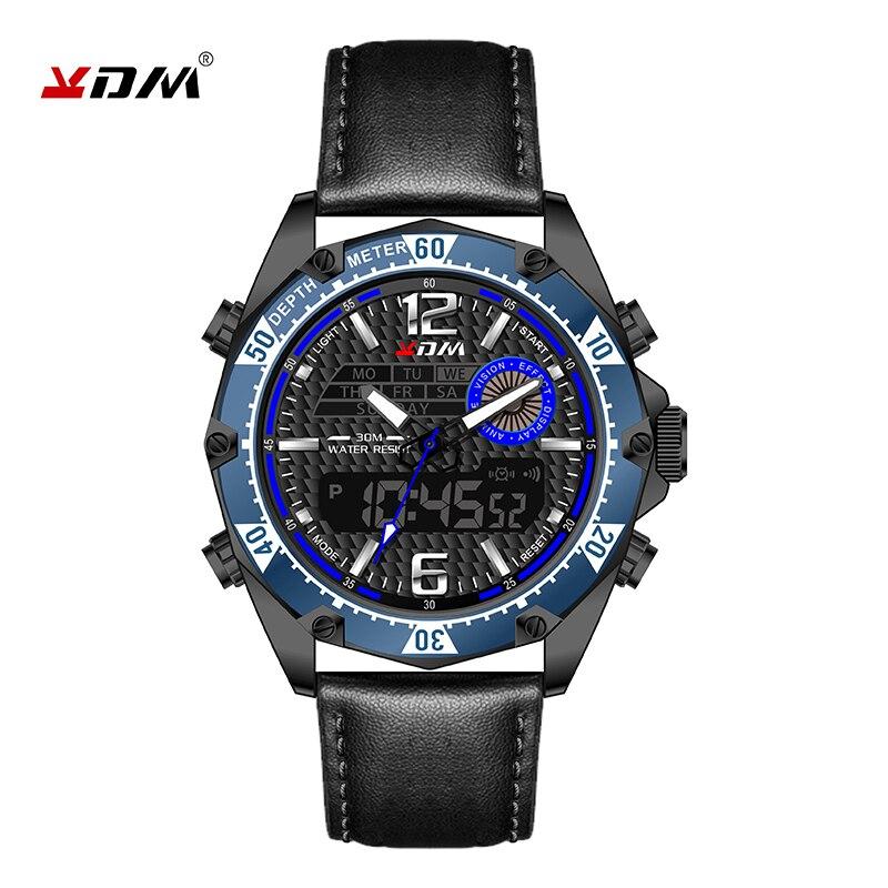 Reloj hombre 남자 시계 정품 가죽 밴드 relogio masculino 쿨 스포츠 montre homme lumination zegarek meski quartz digital
