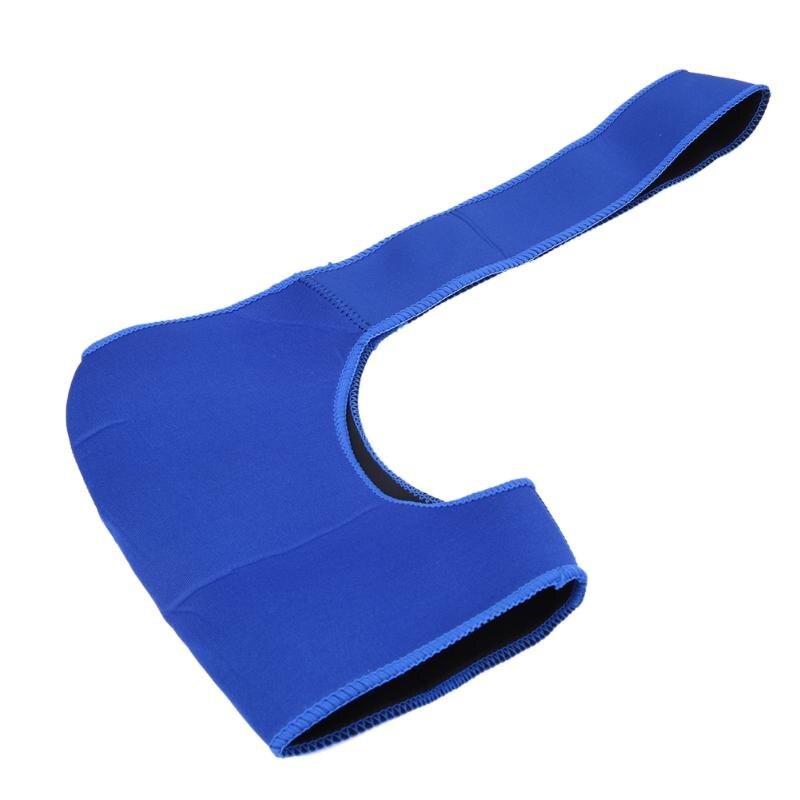 Blauw Schouder Ondersteuning Protector Mannen Vrouwen Verstelbare Gym Sport Wrap Guard