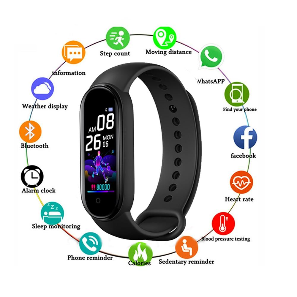 M5 Smart Band Bluetooth Sport Fitness Tracker Pedometer M5 Smart Watches Men Heart Rate Monitor Call Reminder Smart Bracelet id130c bluetooth smart band multiple sports fitness bracelet tracker heart rate monitor remote camera gps smart wristbands