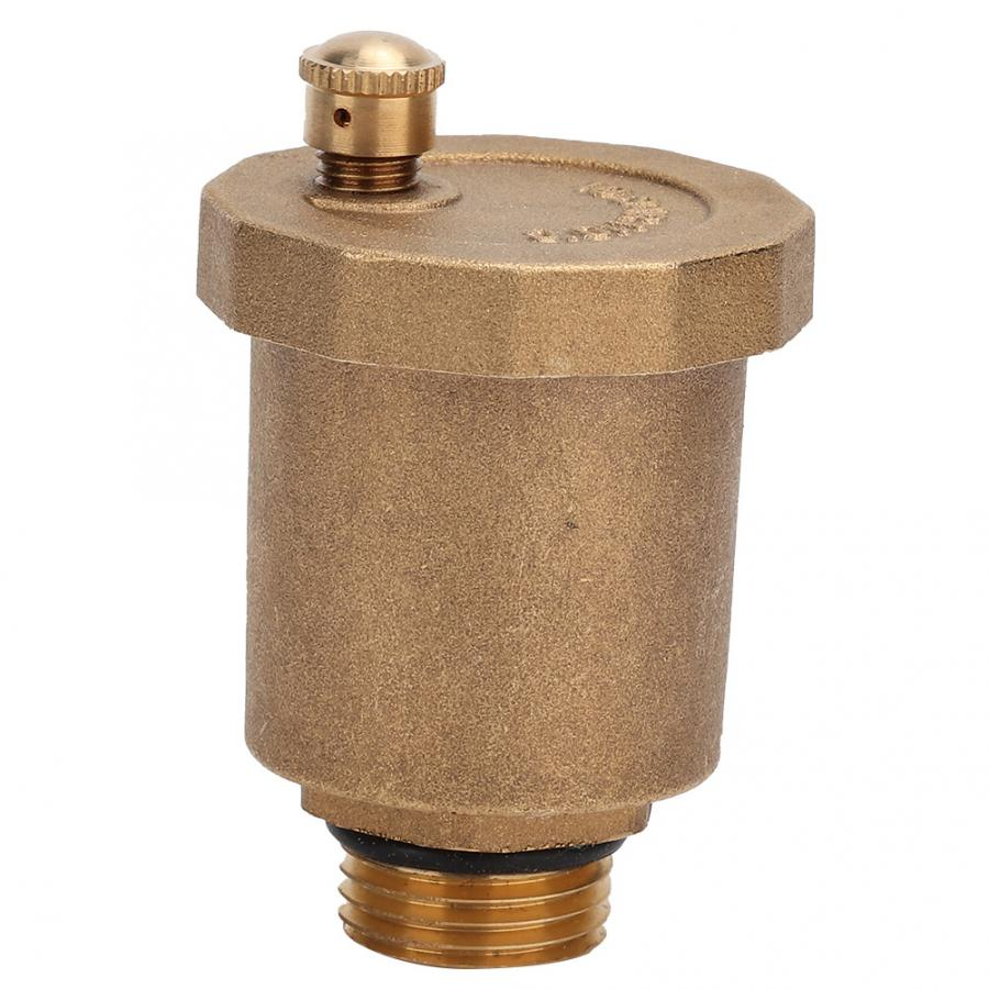 Brass Automatic Air Vent Valve 1/2 3/8 3/4 Male Thread For Solar Water Heater Pressure Relief Value Tools earth star brass safety valve solar pressure relief valve 3bar 1 2 thread high quality