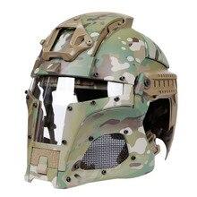 군사 전술 페인트 볼 헬멧 전체 덮여 Airsoft 사냥 Cs Wargame 헬멧 보호 남자 슈팅 육군 전투 헬멧