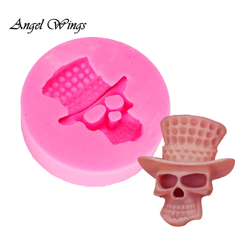 DIY herramientas de pastel cráneo molde de silicona decoración Cupcake Gumpaste Fondant arcilla caramelo moldes DY0031