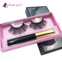 flash girl 5d w series w38 natural and wispy mink magnetic eyelashes and eyeliner