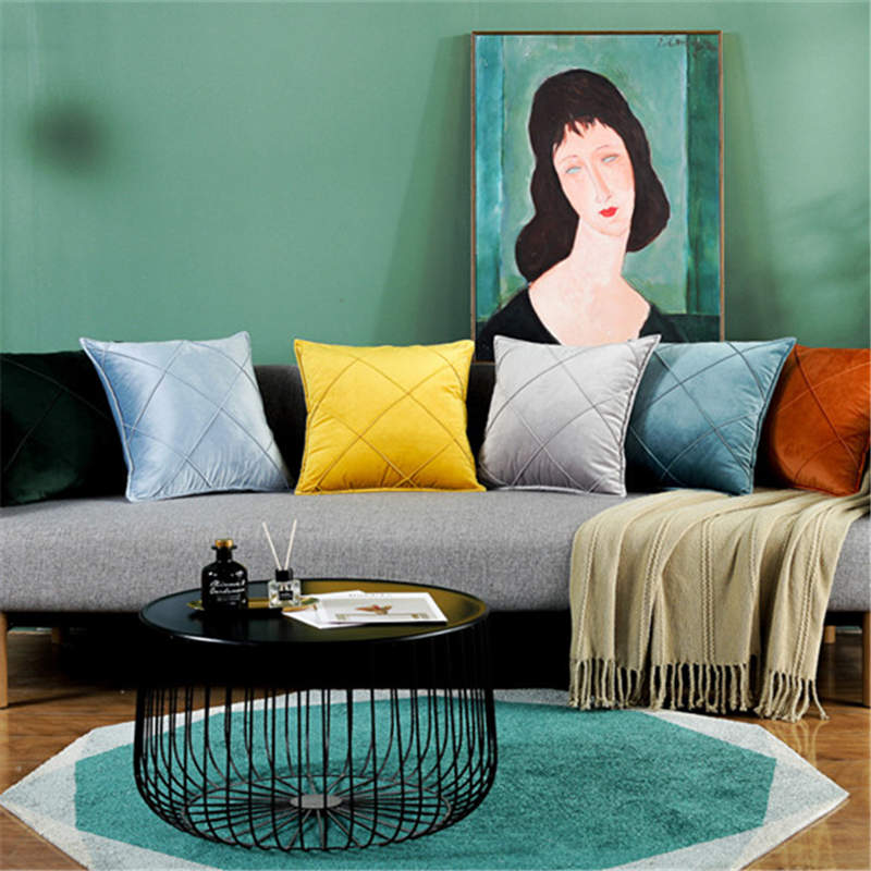 Fundas de cojín de Cachemira holandesa de lentejuelas de terciopelo suave fundas de almohada de decoración de colores sólidos para decoración de sofá de hogar
