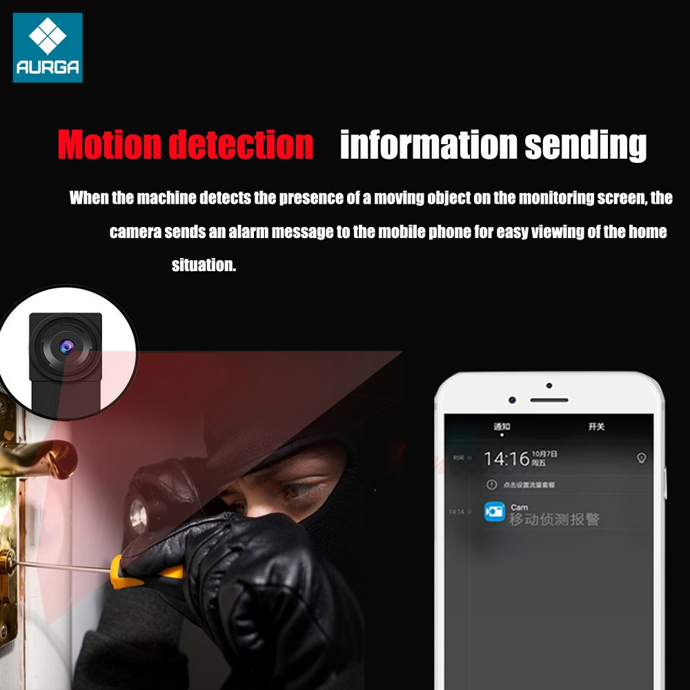 HD 4K DIY Portable WiFi IP Mini Camera P2P Wireless Motion Detect Camcorder Night Vision RemoteView Webcam Suport Hidden Tf Card enlarge