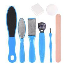 8 en 1 professionnel pédicure outils Kit pied râpe fichier callosités dissolvant ensemble pieds soin acier inoxydable dur peau exfoliant