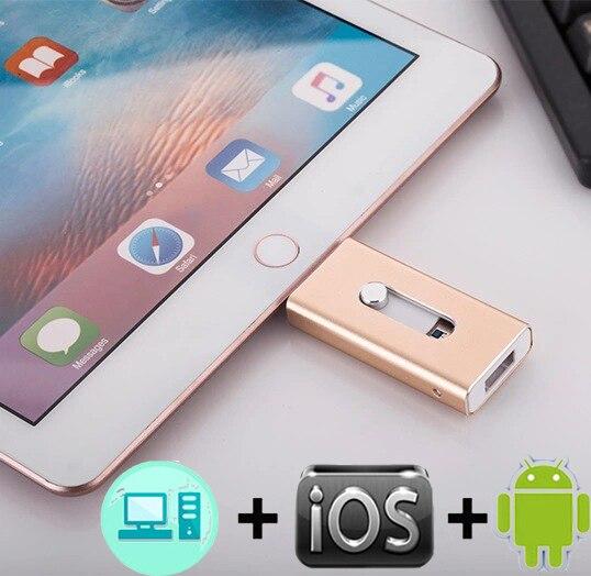 USB OTG Flash Drive Pendrive HD 8 16 32G 64G 128G controlador Flash para iPhone X/8/7/7/Plus/6/6s/5/5 SE ipad usb 3,0
