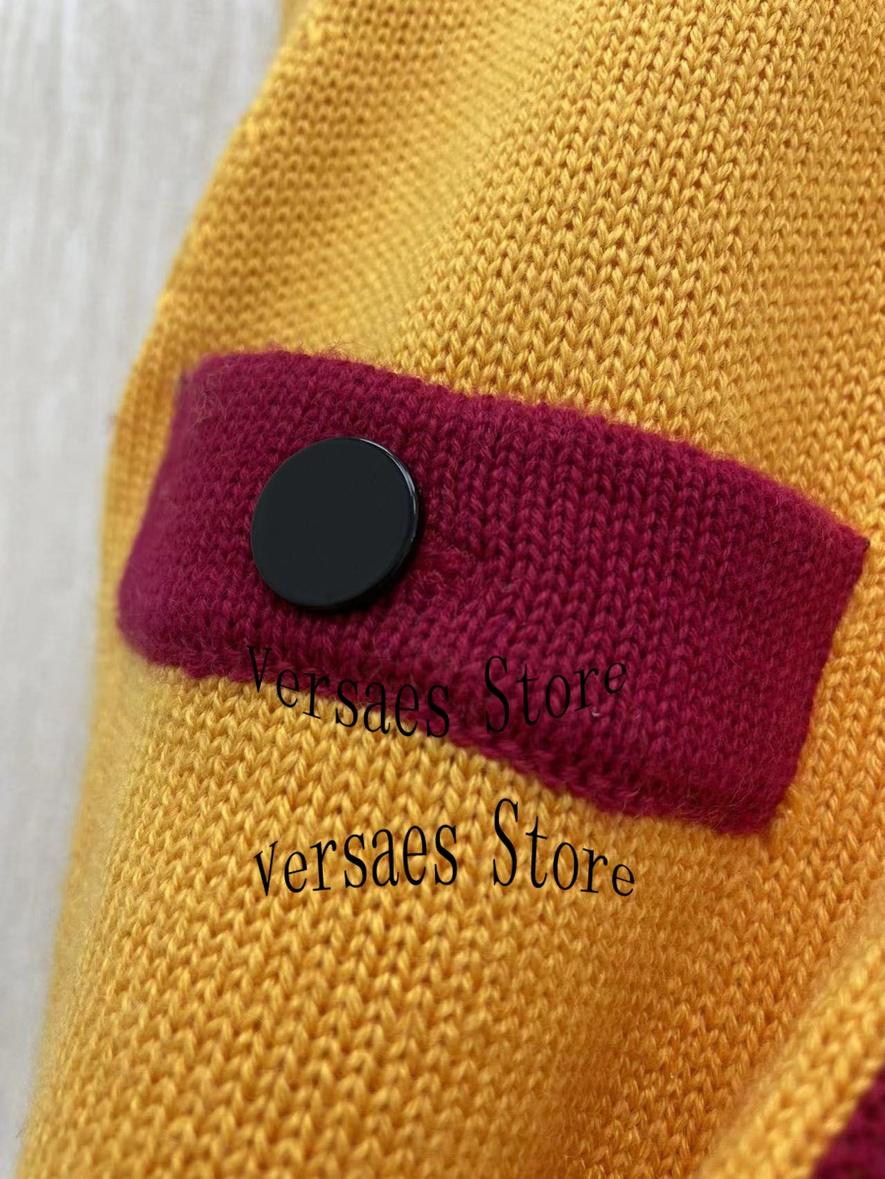 21 luxury design color contrast fashion women's medium and long cardigan long temperament Versatile Single breasted knitted coat enlarge