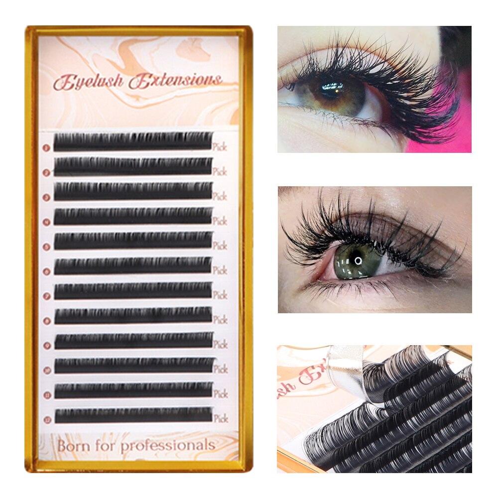 Cils individuels cils Premium cils noirs Faux vison Maquiagem Cilios professionnels Extension de cils de vison doux