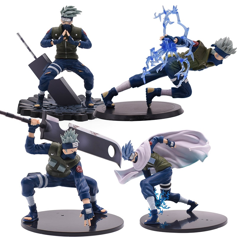 model fans inflames toys naruto 30cm height 1 6 hatake kakashi contain two head action figure toy for collection 4 Styles Naruto PVC Action Figure Hatake Kakashi PVC Toy Naruto Shippuden Model Toys Christmas Gift For Kid