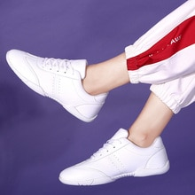 2020 Hot brand women's white competitive aerobics shoes flat heel soft bottom breathable gym shoes