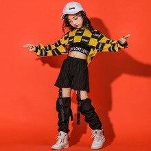 Korean children's hip hop dance costume kids Jazz Dance suit child performance show street dance clothing ballroom dancewear