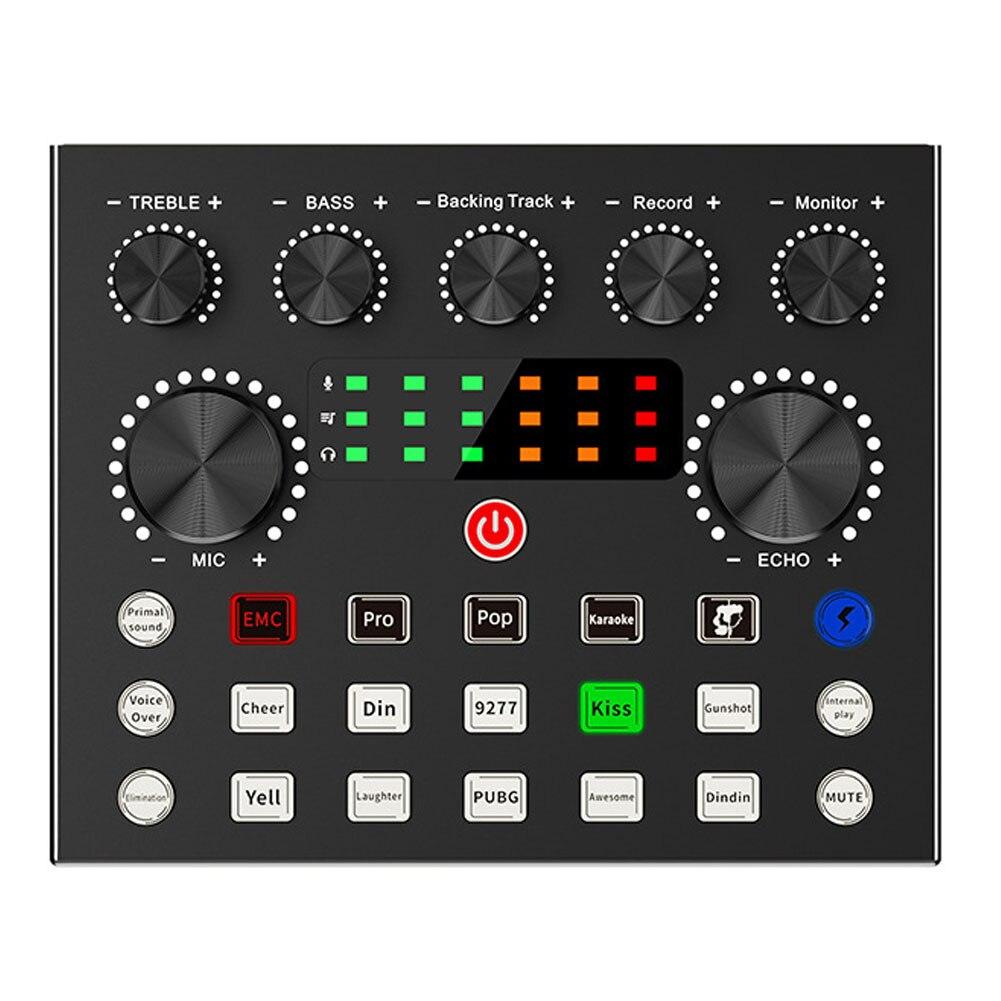 Bm 800 ميكروفون استوديو تسجيل V8S كارت الصوت أطقم Bm800 مكثف ميكروفون للكمبيوتر الهاتف كاريوكي الغناء تيار هيئة التصنيع العسكري