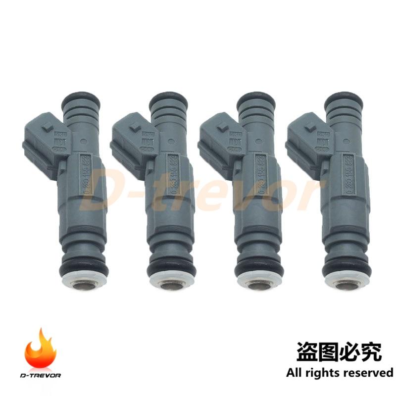 4 Uds los inyectores de combustible 0280155823 para 1999-2003 BMW 840Ci 540i 740i 4.4L 4.0L EV14
