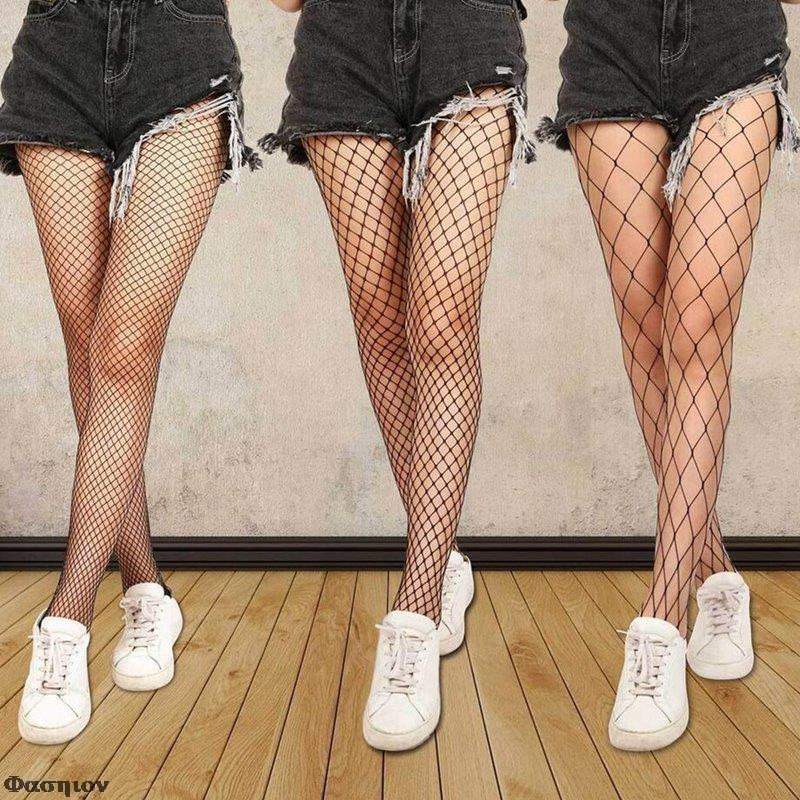 Hollow Out  Pantyhose Black Women Tights Stockings Fishnet Stockings Club Party Hosiery Calcetines Female Mesh