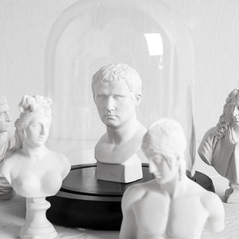 Escultura de carácter de resina de la Mini estatua del Apollo creativa de estilo nórdico, accesorios de decoración del hogar, decoración moderna de la habitación