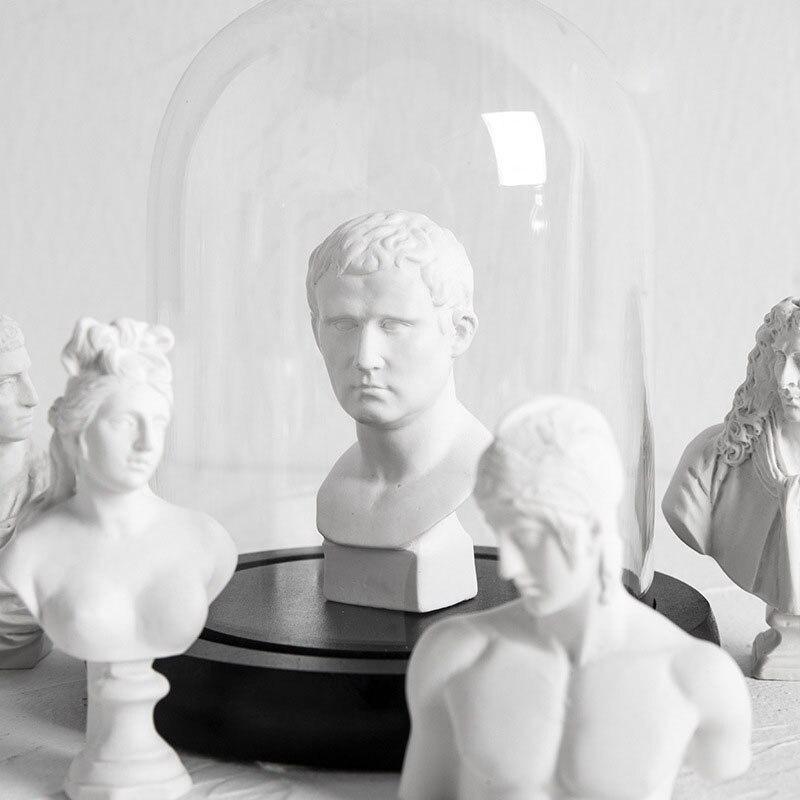 Nordic criativo mini apollo estátua resina personagem escultura acessórios de decoração para casa arte moderna ornamento decoração do quarto