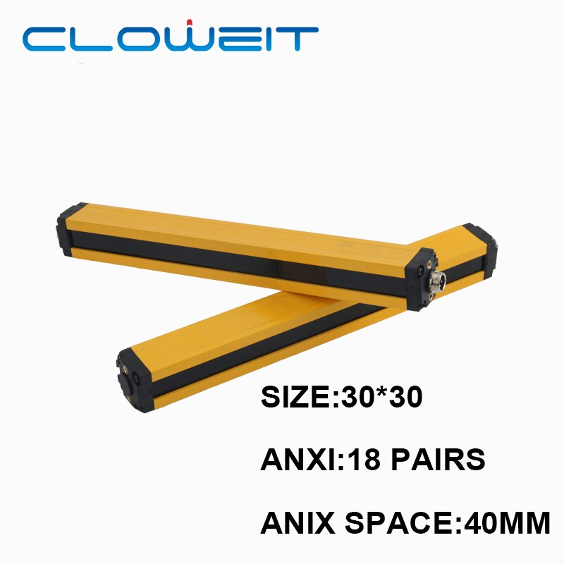 Cloweit APS-1840 مستشعر ستارة ضوئية للأمان 18 نقطة 680 مللي متر منطقة بروتيتيون 30x30 مللي متر صريف جهاز الأمن DC24V NPN PNP