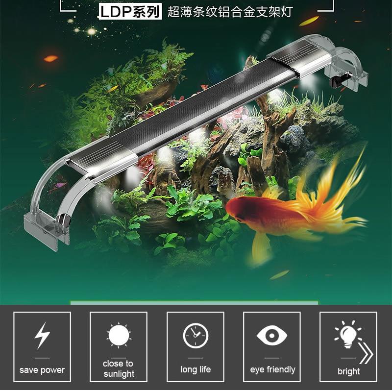 Sunsun LDP Light Aquarium Water Plant Fish Tank Lamp Matte Black Super Transparent Bright