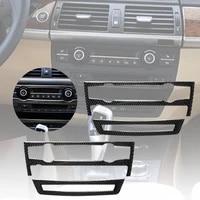 car moulding decoration flexible strips interior car air conditioner outlet sticker for bmw e70 x5 2008 2013 e71 x62009 2014