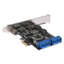 Usb 3.0 Pcie Pci Express Control Card Adapter Pci-E Expansion Karte Desktop Vorne Pcie Transfer Usb3.0 19Pin Interface Adapter
