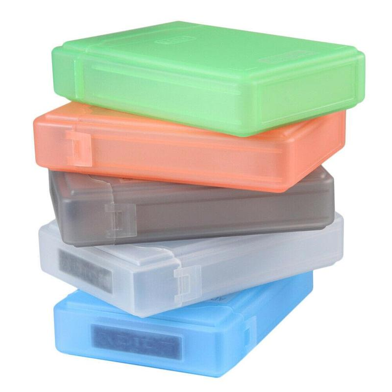 For 3.5 Inch Hard Drive Box Caddy Cover External Hard Drive Disk Storage Box For SATA HDD IDE Enclosure Multi Color